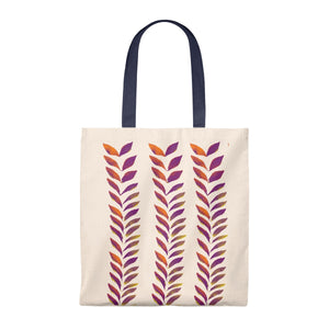 Tote Vintage Bag Purple Leaves