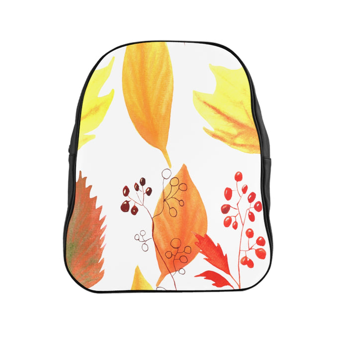 School Backpack Autumn Leaves and Branches