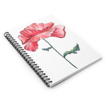 Load image into Gallery viewer, Spiral Notebook Ruled Line Poppy