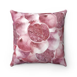 Spun Polyester Square Pillow Garnet