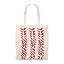 Load image into Gallery viewer, Tote Vintage Bag Purple Leaves