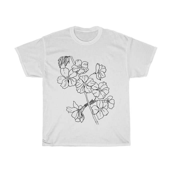Women's Heavy Cotton Tee Cherry Branch