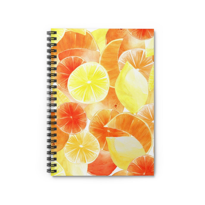 Spiral Notebook Ruled Line Orange Citrus