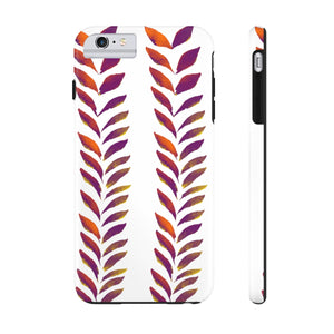 Case Mate Tough Phone Cases Purple Leaves
