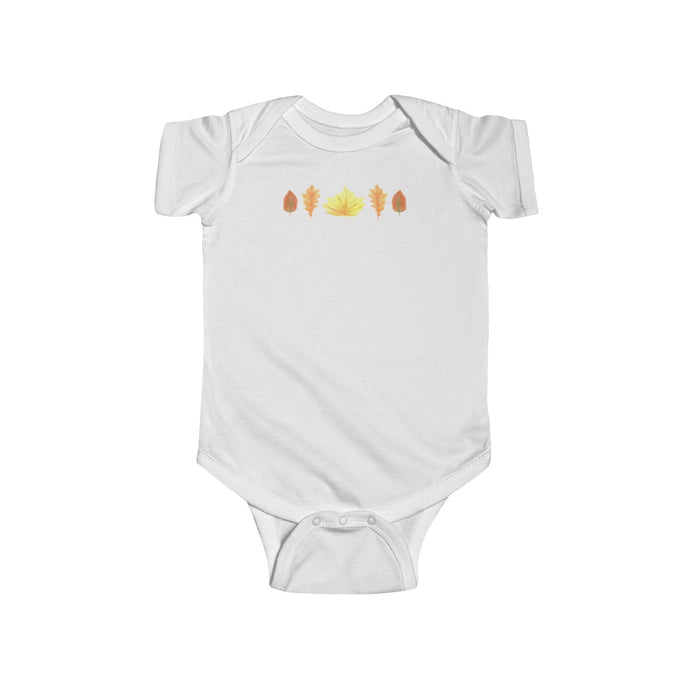 Infant Fine Jersey Bodysuit Autumn Leaves
