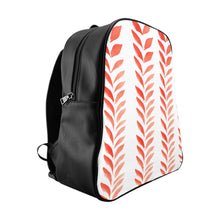 Load image into Gallery viewer, School Backpack Red Leaves