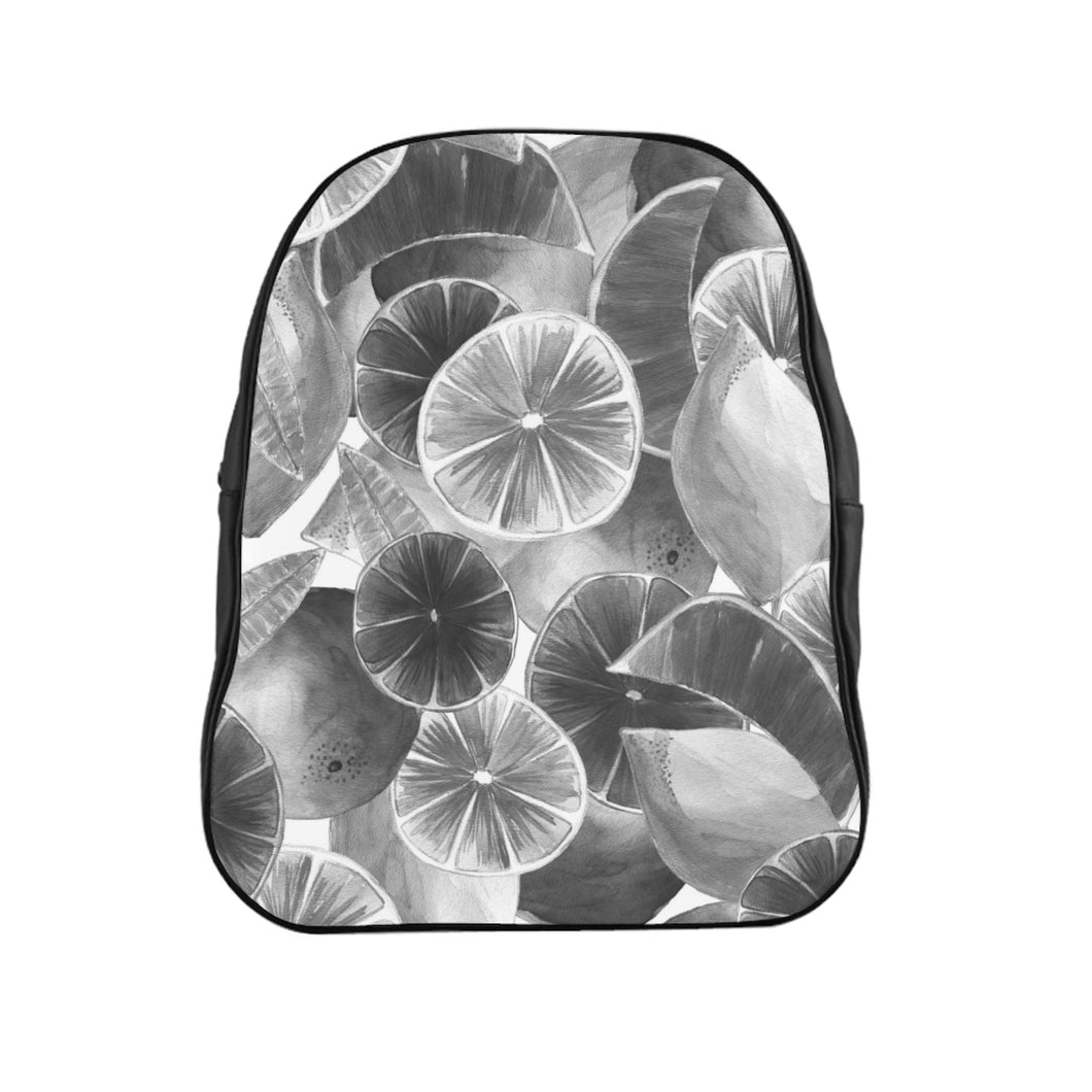 School Backpack Grey Citrus