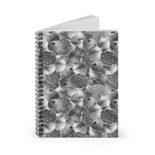 Load image into Gallery viewer, Spiral Notebook Ruled Line Grey Garnet