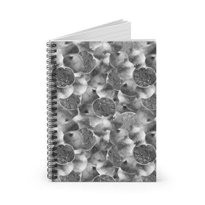 Spiral Notebook Ruled Line Grey Garnet