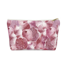 Load image into Gallery viewer, Accessory Pouch w T-bottom Garnet
