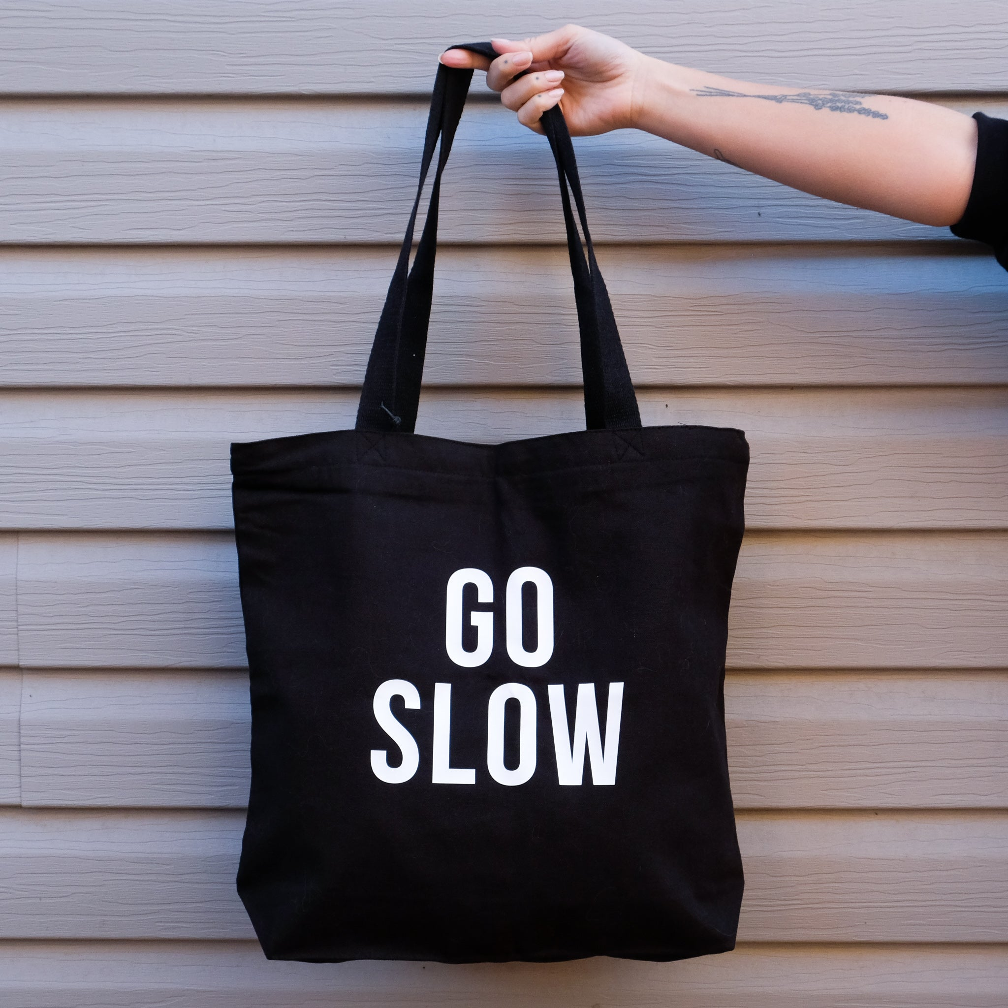 Go Slow Tote Bag