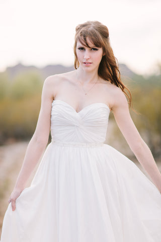 Knot Front Custom Made Wedding Dress
