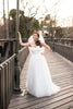 Tulle Wedding Dress with Draped Bodice