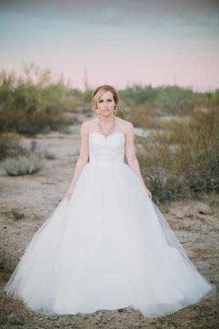 Alencon Lace and Tulle Ballgown
