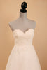 Alencon Lace and Organza Low Back Wedding Dress