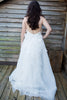 Lace and Organza Low Back Wedding Dress with Bow