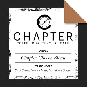 Specialty coffee blend by Chapter Coffee Roastery and Cafe