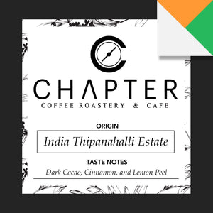 Single origin specialty coffee from India roasted by Chapter Coffee Roastery and Cafe based in Philippines