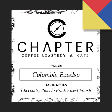Single origin specialty coffee from Colombia roasted by Chapter Coffee Roastery and Cafe based in Philippines