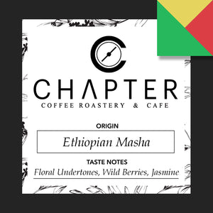 Single origin specialty coffee from Ethiopia roasted by Chapter Coffee Roastery and Cafe based in Philippines