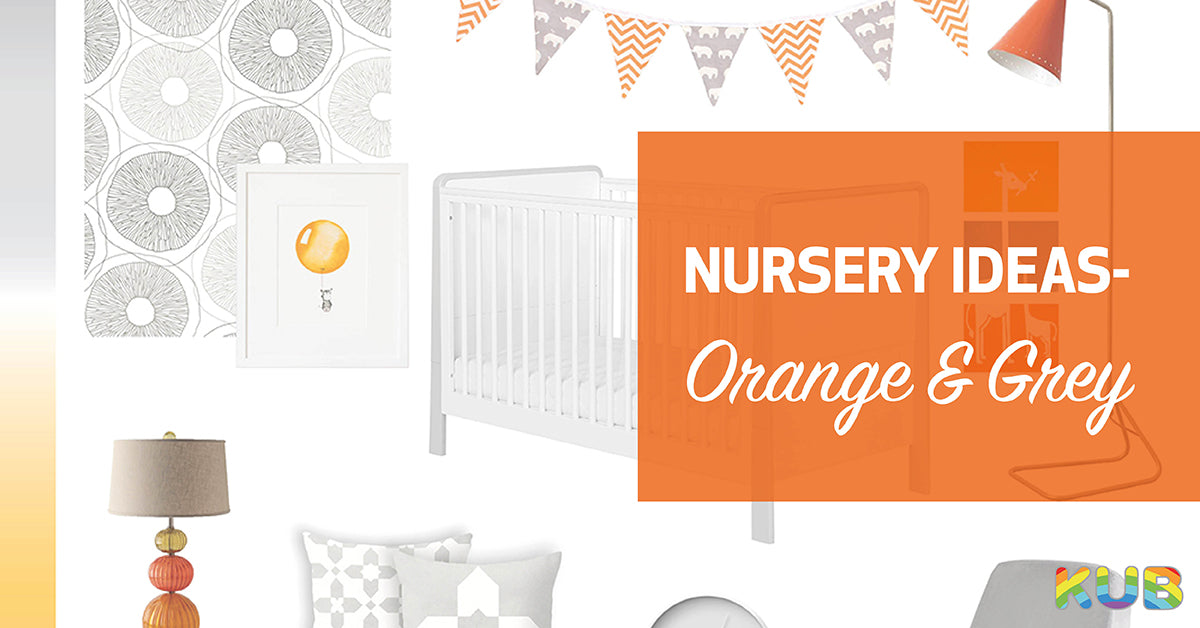 Nursery Ideas - Orange and Grey