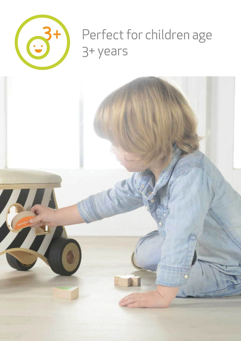 Ride-on Shape Sorter Zebra