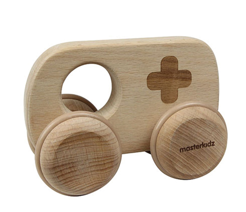 Wooden Baby Toy Ambulance