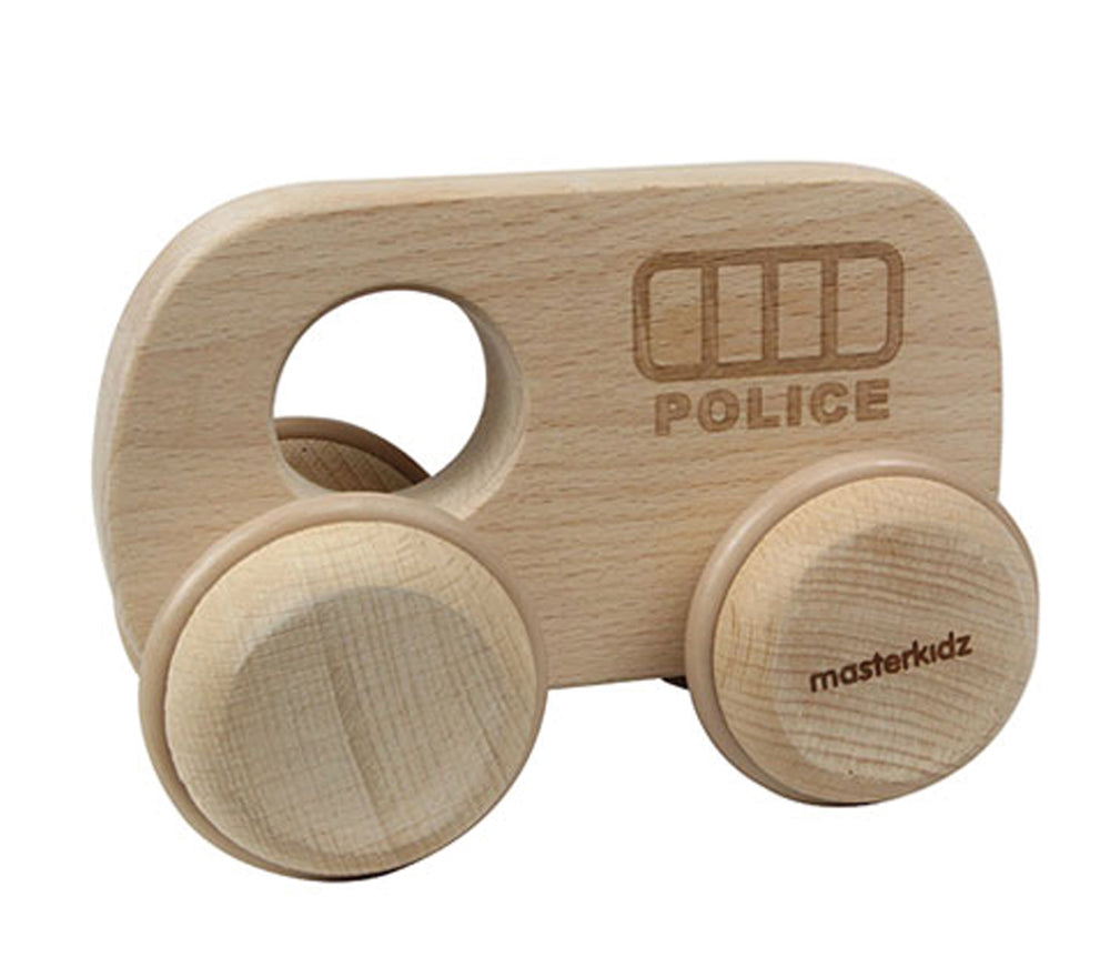Wooden Baby Toy Police Car