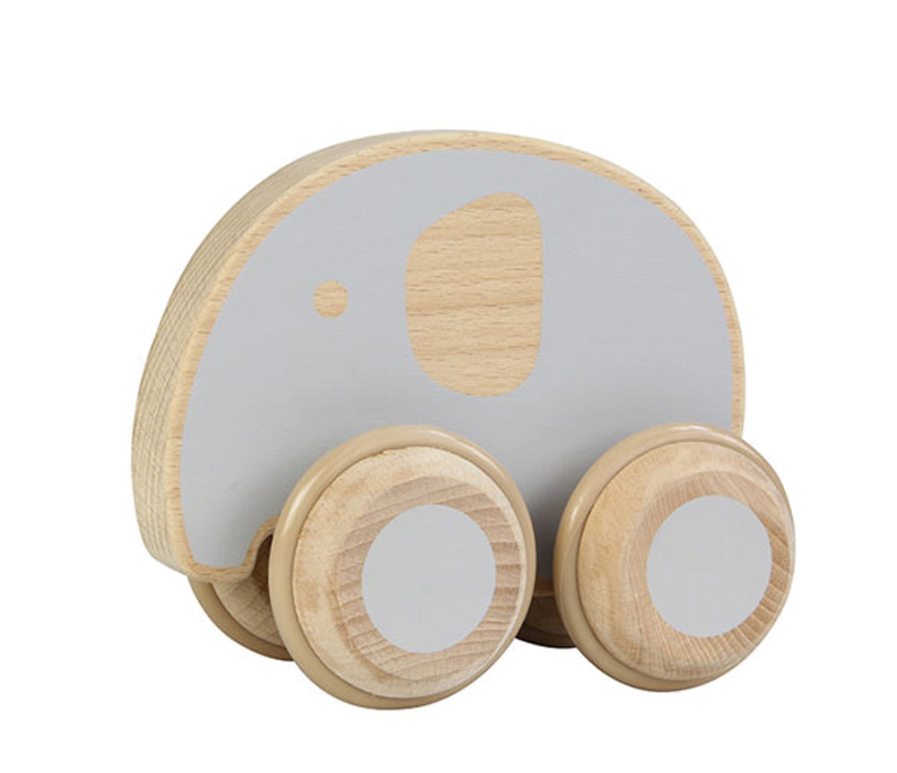 Wooden Push Along Elephant Toy