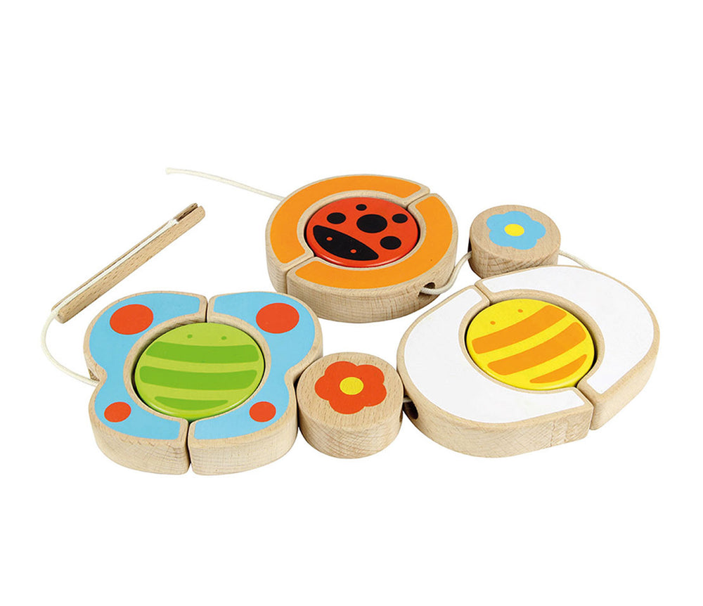Wooden Insect Lacing Game
