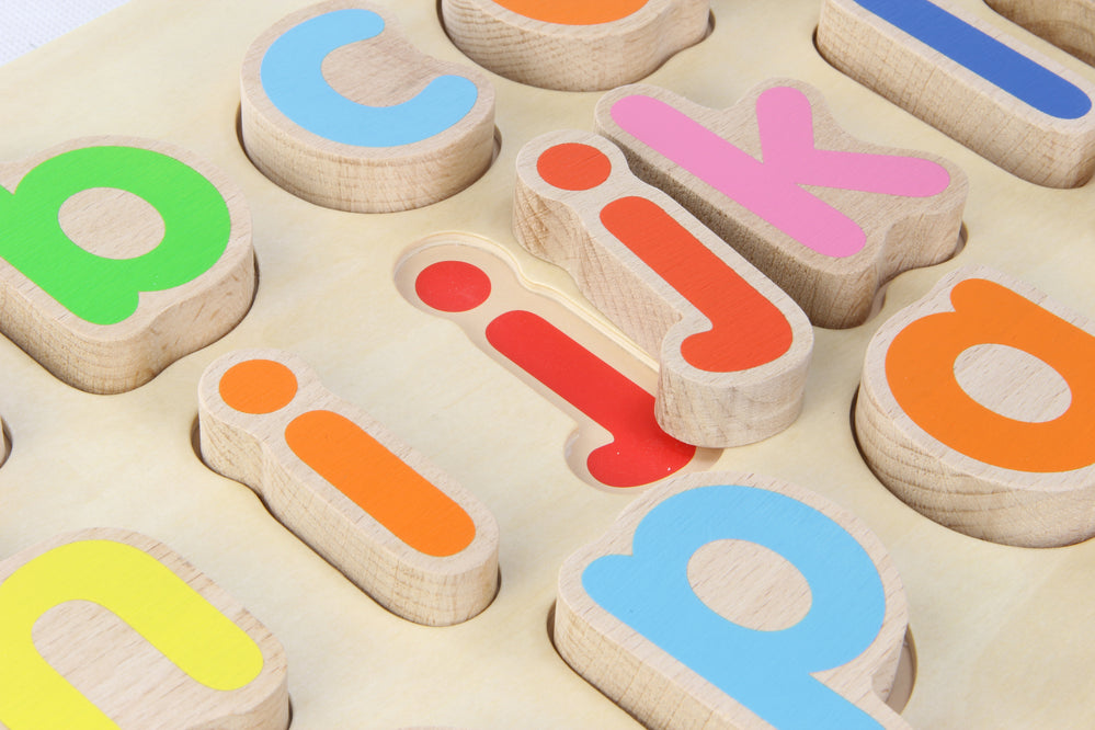 Wooden Lowercase Alphabet Puzzle