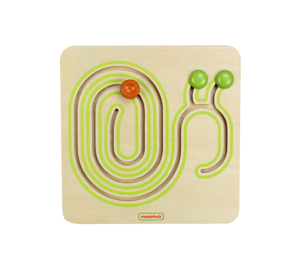 Wooden Snail Shape Sliding Game