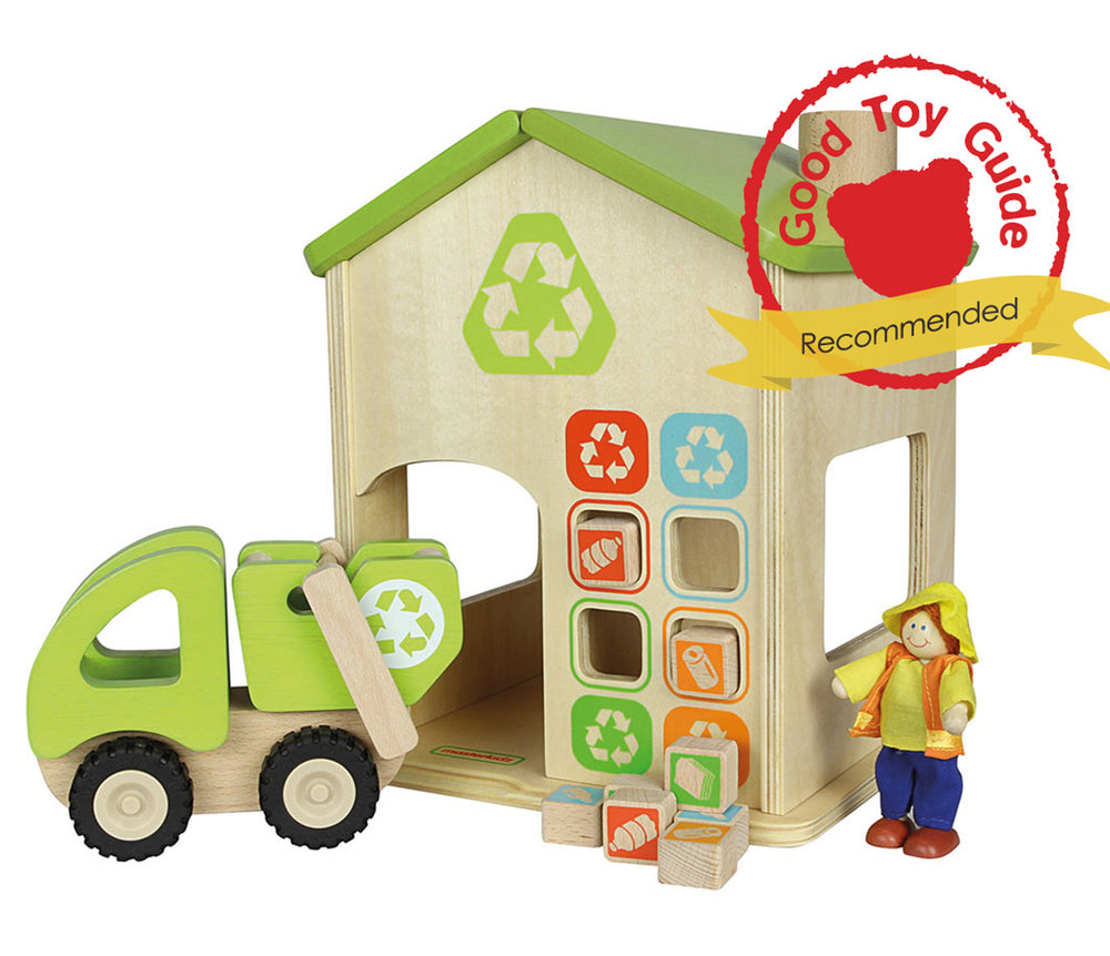 Wooden Recycling Plant Play Set