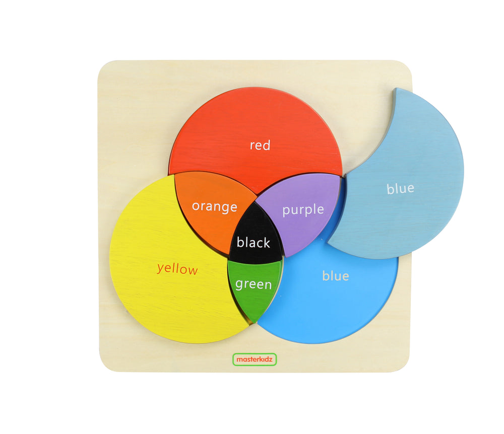 Wooden Colour Mixing Learning Board