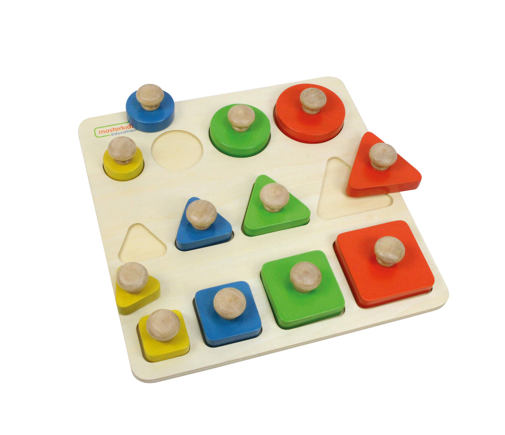 Wooden Shape, Size and Colour Learning Puzzle