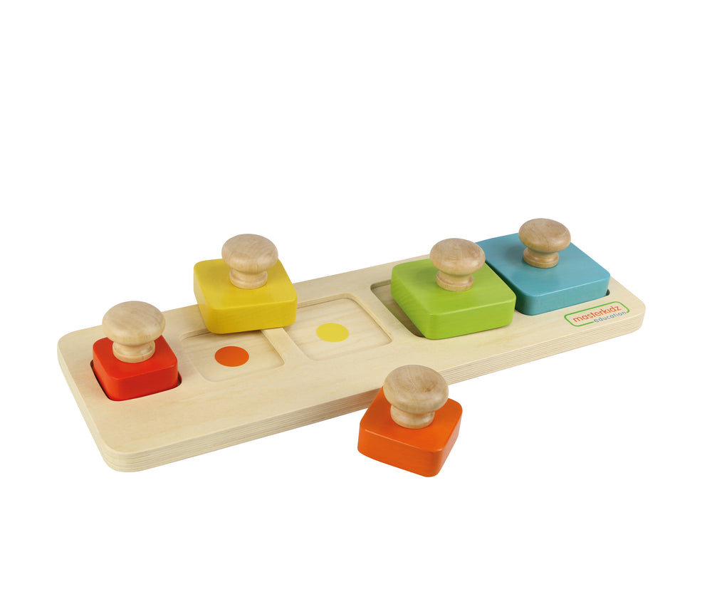 Wooden Colour and Size Matching Peg Puzzle