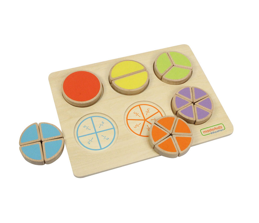 Wooden Fraction Learning Puzzle