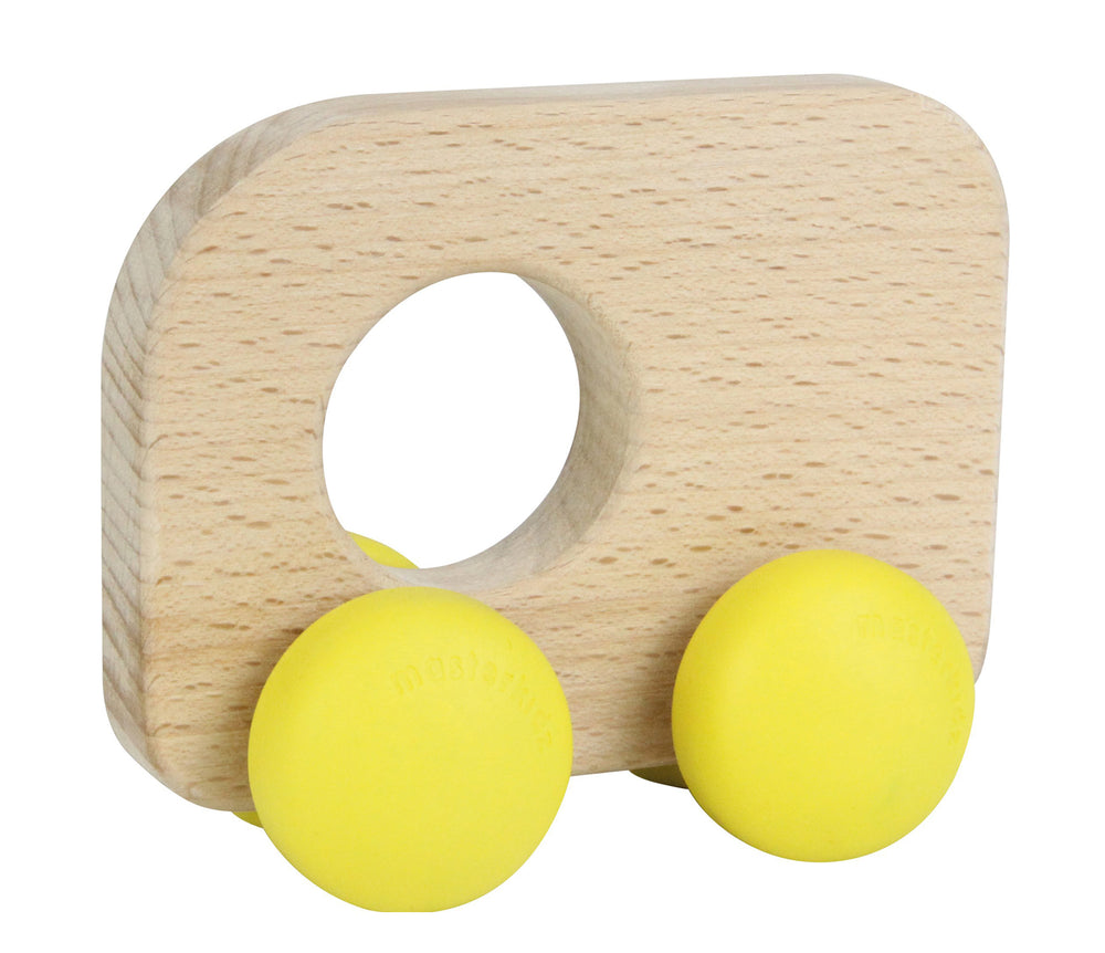 Wooden Push Along Toy Bus
