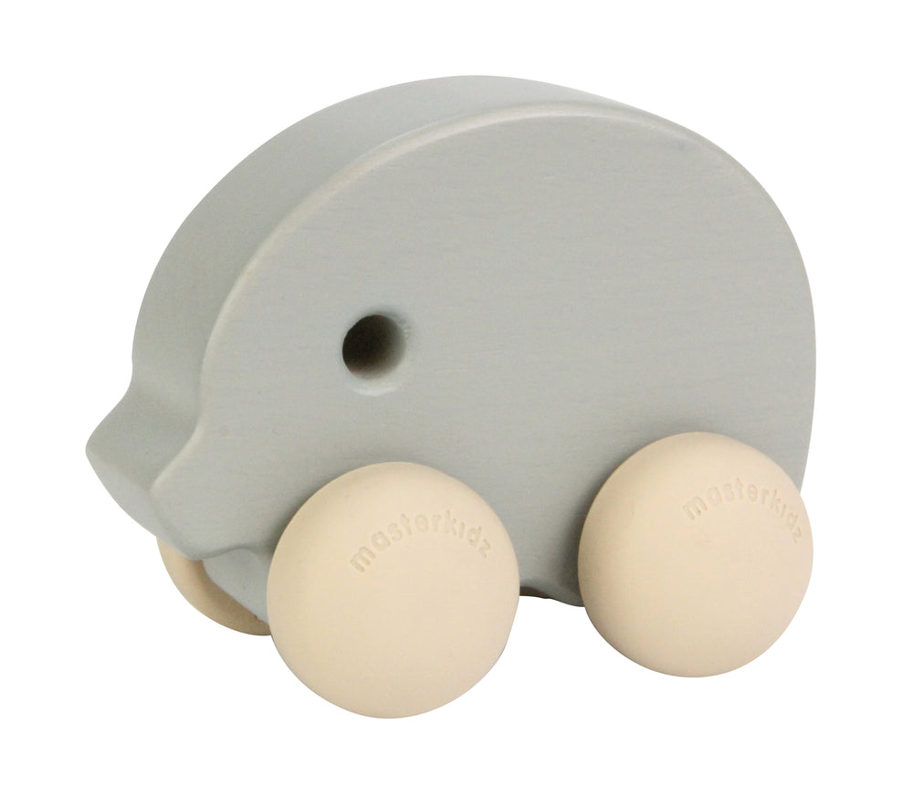 Wooden Push Along Toy Elephant