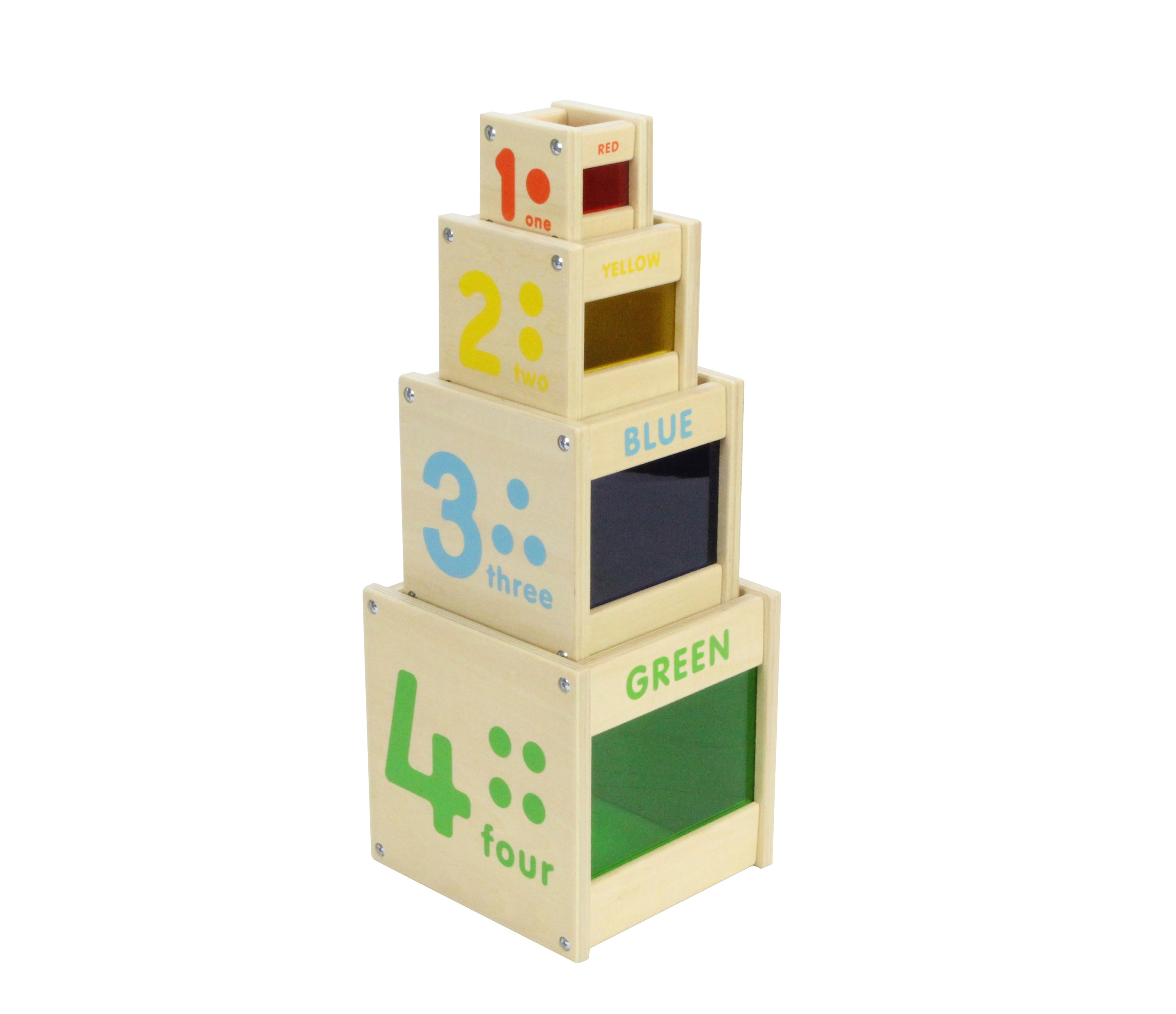 Wooden Colour Discovery Stacking Cubes