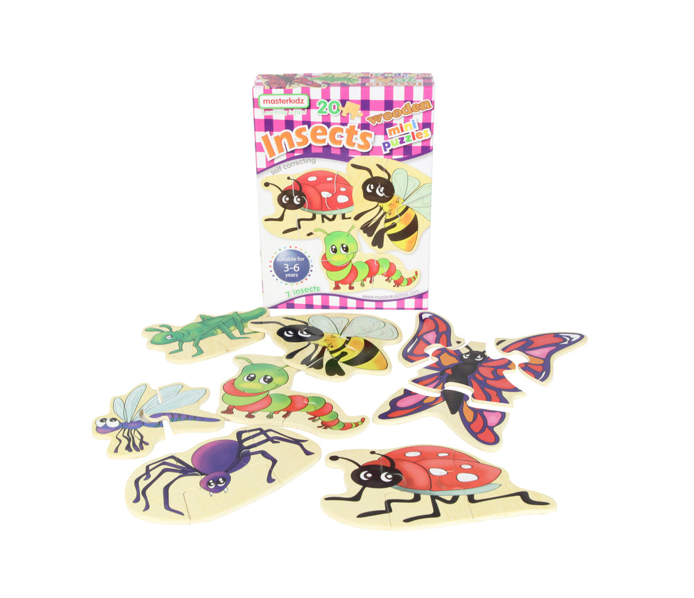Wooden Insects Mini Puzzles