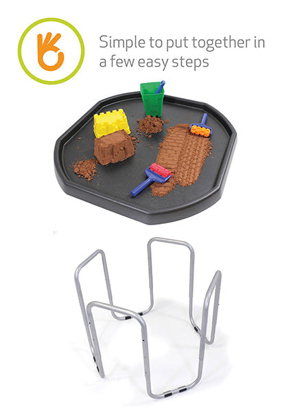Original Tuff Tray (Black) with Stand and Sculpting Sand
