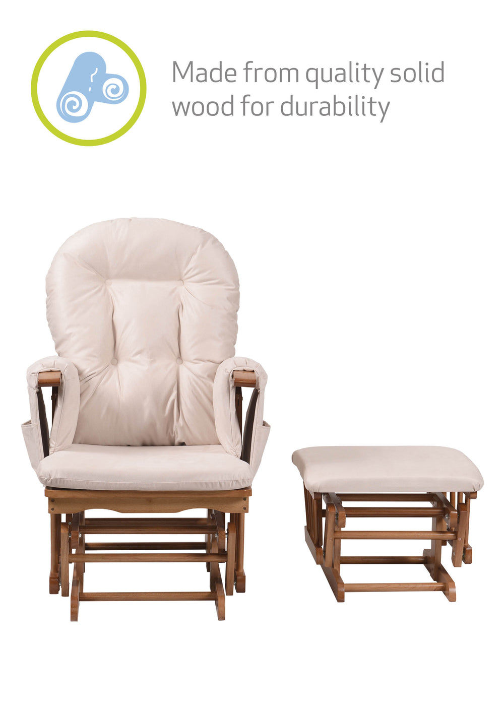 Haywood Reclining Nursing Chair and Footstool