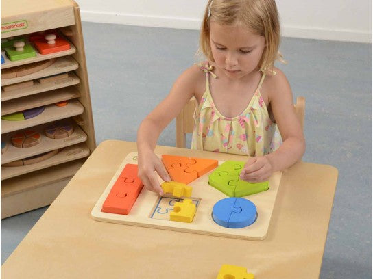 Wooden Shape Learning Jigsaw Puzzle