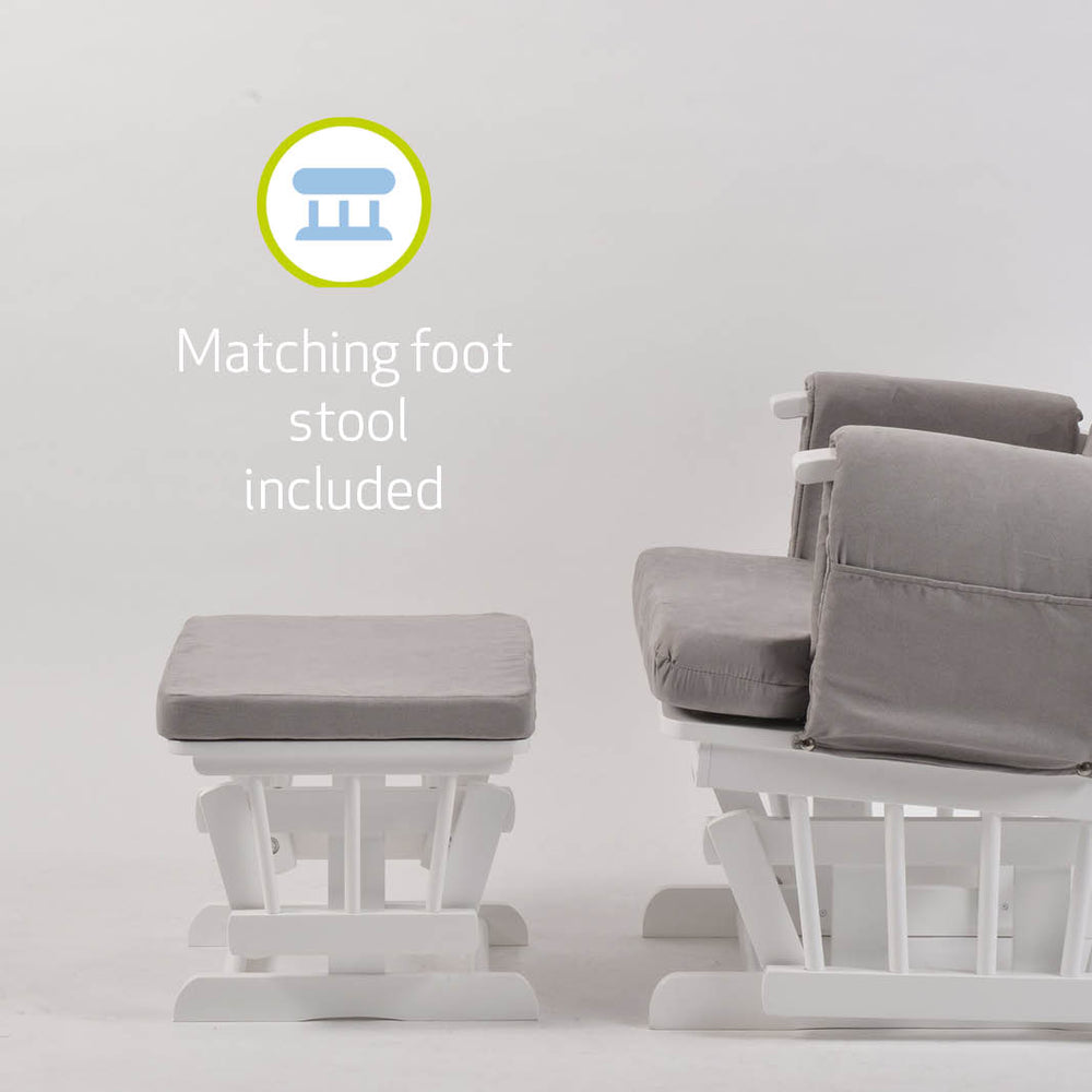 Mothercare Nursing Chair and Footstool Grey