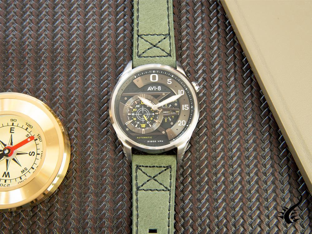 "Montre Automatique AVI-8 Hawker Harrier II ""Ace of spades"", Vert, AV-4070-01"