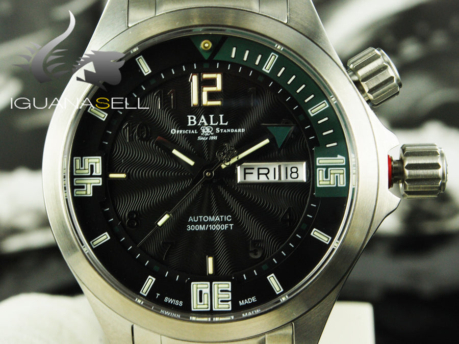 Montre Ball Engineer Master II Diver, Ball RR1102, Noir/Vert, DM2020A-SA-BKGR