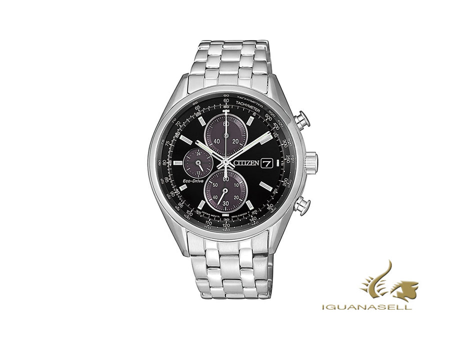 Montre à Quartz Citizen OF, Eco Drive B612, Noir, 40 mm, 10 atm, CA0451-89E