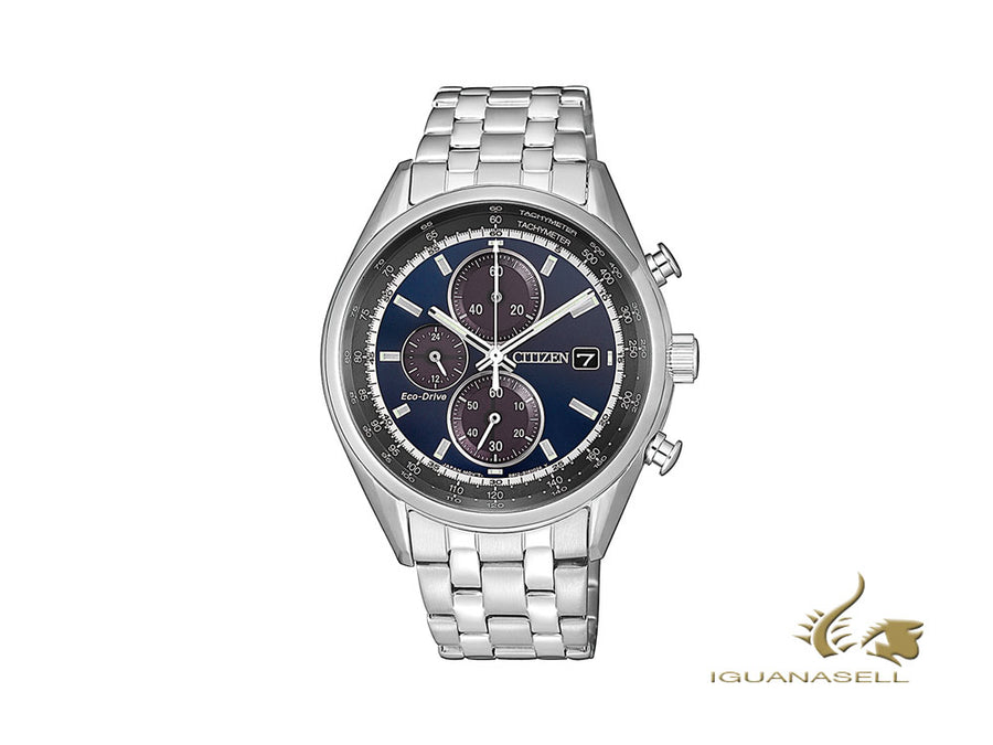 Montre à Quartz Citizen OF, Eco Drive B612, Bleu, 40 mm, 10 atm, CA0451-89L