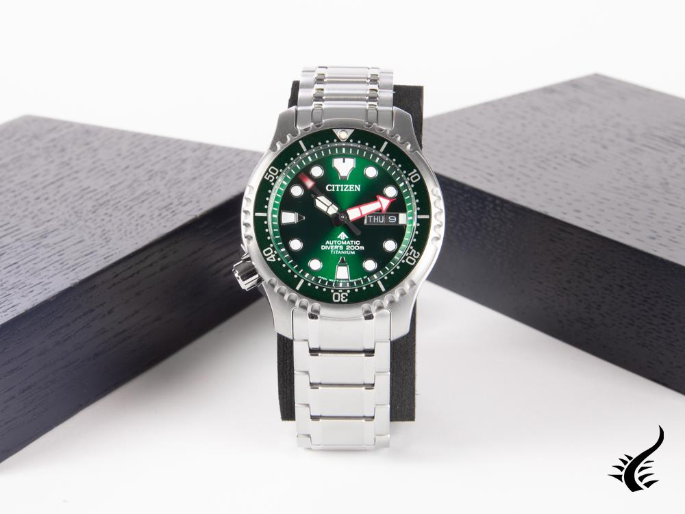 Montre Automatique ST Citizen Promaster, Supertitanium, Vert, 42 mm, NY0100-50X